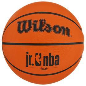 Мяч баскетбольный WILSON JR. NBA Authentic Outdoor, арт. WTB9500XB04, размер 4, резина, бутиловая камера, цвет коричневый