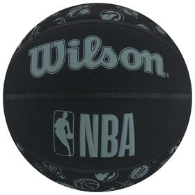 Мяч баскетбольный WILSON NBA All Team, арт.WTB1300XBNBA, размер 7, PU, бутиловая камера, цвет чёрный