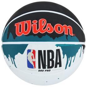 Мяч баскетбольный WILSON NBA Drv Pro Drip, арт.WTB9101XB07 размер 7, резина, бутиловая камера, цвет белый/чёрный/зелёный