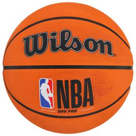Мяч баскетбольный WILSON NBA DRV Pro, арт.WTB9100XB07 размер 7, резина, бутиловая камера, цвет оранжевый