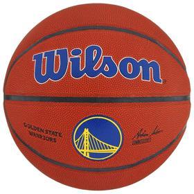 Мяч баскетбольный WILSON NBA Golden State Warriors, арт.WTB3100XBGOL размер 7, PU, бутиловая камера, цвет коричневый