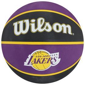 Мяч баскетбольный WILSON NBA Team Tribute La Lakers, арт.WTB1300XBLAL, размер 7, резина, бутиловая камера, цвет фиолетовый