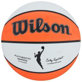 Мяч баскетбольный WILSON WNBA Authentic Series Outdoor, арт.WTB5200XB06, размер 6, резина, бутиловая камера, цвет белый