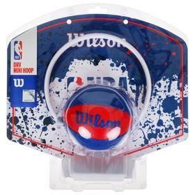 Набор для мини-баскетбола Wilson NBA Team Mini Hoop, арт. WTBA1302NBARD, щит с кольцом, мяч