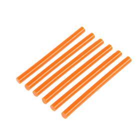 Клеевые стержни TUNDRA, 7 х 100 мм, оранжевые, 6 шт.
