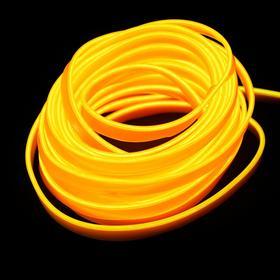 Неоновая нить Cartage для подсветки салона, адаптер питания 12 В, 2 м, желтый