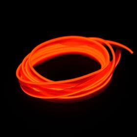 Неоновая нить Cartage для подсветки салона, адаптер питания 12 В, 2 м, оранжевый
