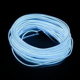 Неоновая нить Cartage для подсветки салона, адаптер питания 12 В, 5 м, белый