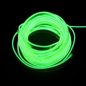 Неоновая нить Cartage для подсветки салона, адаптер питания 12 В, 5 м, лимонный