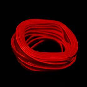 Неоновая нить Cartage для подсветки салона, адаптер питания 12 В, 7 м, красный
