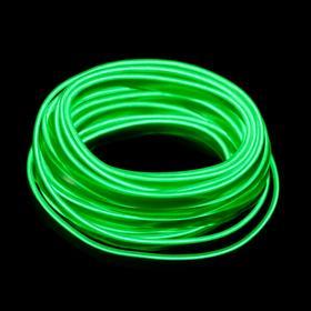 Неоновая нить Cartage для подсветки салона, адаптер питания 12 В, 7 м, зеленый