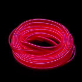 Неоновая нить Cartage для подсветки салона, адаптер питания 12 В, 7 м, розовый