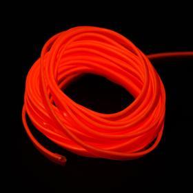 Неоновая нить Cartage для подсветки салона, адаптер питания 12 В, 7 м, оранжевый