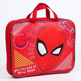 """Папка с ручками текстиль А4 70мм 350*270, """"Человек-паук"""" """"Spider-Man"""""""