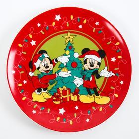 """Тарелка 20 см """"Happy New Year"""", Микки Маус и его друзья"""