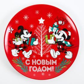 """Тарелка 20 см """"С Новым Годом"""", Микки Маус и его друзья"""