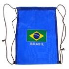 рюкзак- мешок для обуви синий Brasil (флаг) 40*30см, шнурок