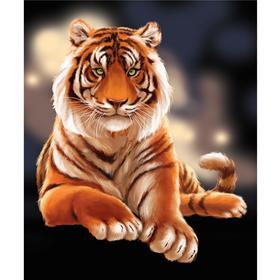 Алмазная вышивка с полным заполнением «Тигр» 50х60 см