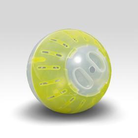 Шар для грызунов, 10 см, прозрачный/жёлтый (прозрачная крышка)