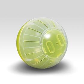 Шар для грызунов, 12 см, жёлтый/прозрачный (цветная крышка)