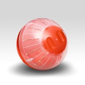 Шар для грызунов, 12 см, красный/прозрачный (цветная крышка)