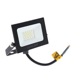Прожектор светодиодный Luminarte LFL-20W/05, 20 Вт, 5700 К, 1600 Лм, IP65, черный