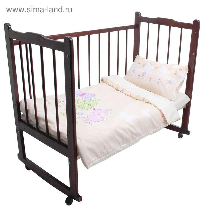 Детское постельное бельё Little Friend, размер 147х107, 147х97, 60х40 - 2 шт., цвет бежевый