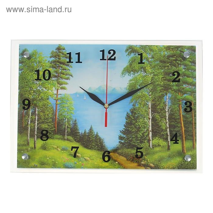 """Часы настенные прямоугольные """"Природа у моря"""", 25х35 см"""