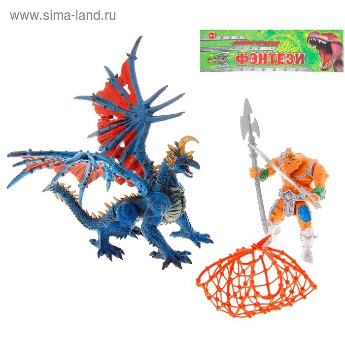 """Набор фигурок """"Фэнтези"""" с динозавром, 5 предметов, конечности двигаются"""