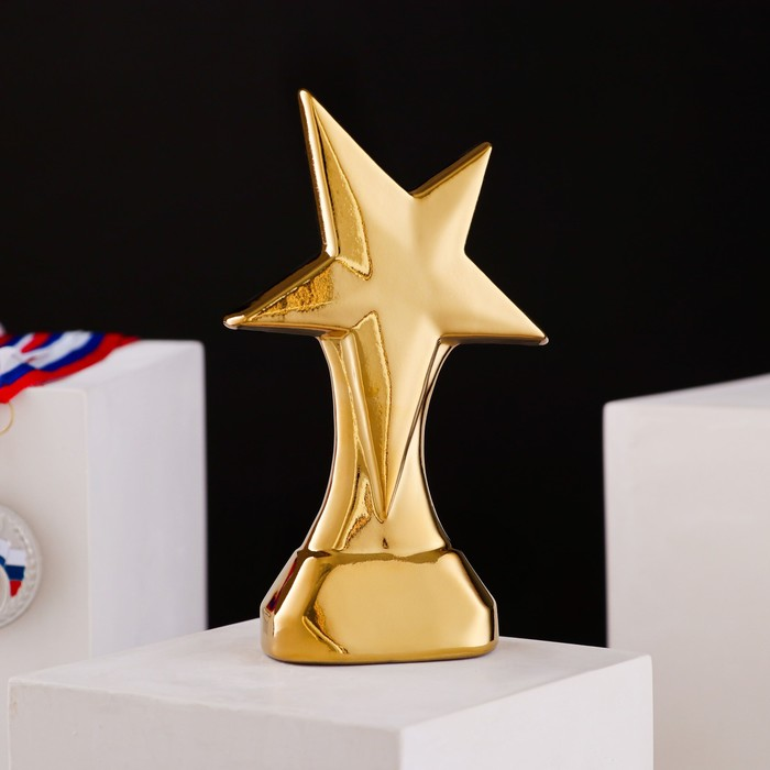 """Кубок """"Космос"""", булат, золотистый, керамика, 19 см"""
