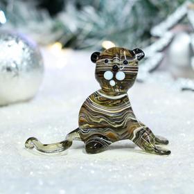 "Фигурка стеклянная ""Тигр"", символ года 2022, 9.5х5.5х7 см, микс"