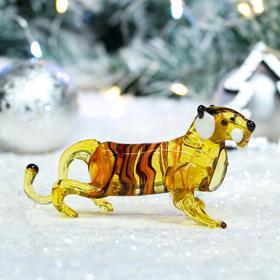 "Фигурка стеклянная ""Тигр"", символ года 2022, 13х4х6 см, микс"