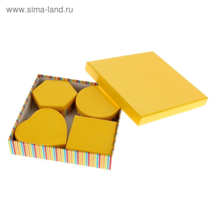 """Набор коробок 5в1 """"Полосатый рейс"""", цвет жёлтый"""