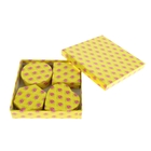 """Набор коробок 5в1 """"Королевский цветок"""", цвет жёлтый"""