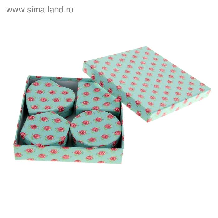 """Набор коробок 5в1 """"Королевский цветок"""", цвет голубой"""