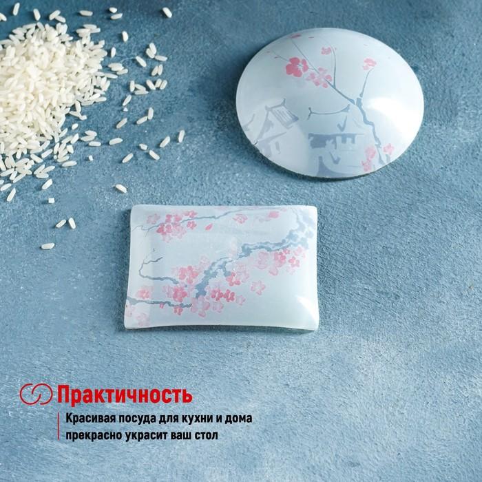 Набор для суши Доляна «Пагода», 3 предмета: соусники 8×2 см, 8×6 см, подставка 25×15 см