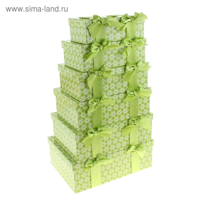"""Набор коробок 6в1 """"Ромашки"""", цвет зеленый"""
