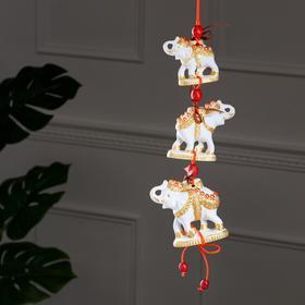 """Сувенир подвесной """"Слоны"""", 3 предмета"""