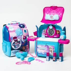 """Игровой набор """"Студия красоты"""", Холодное сердце, в рюкзачке"""