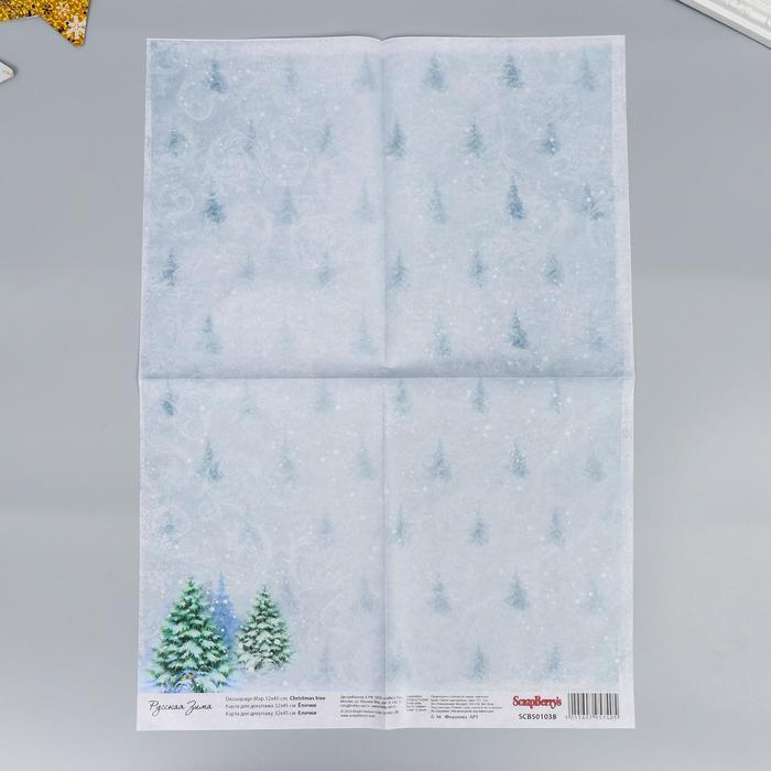 """Карта для декупажа """"Рождественская ёлка"""" 32 х 45 см"""