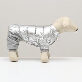 """Комбинезон """"Космонавт"""", размер 14 (ДС 32 см, ОГ 42 см, ОШ 31 см), серебряный"""
