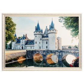 """Картина велюр """"Замок Сюлли-сюр-Луа"""" 100х70 (107х77)см"""