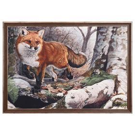 """Картина велюр """"Рыжая лиса"""" 100х70 (105х74)см"""