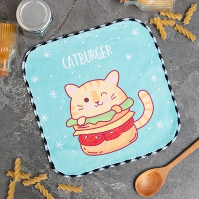 "Салфетка для уборки ""Catburger"", 20х20 см, п/э"