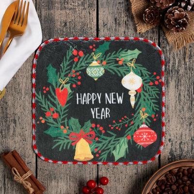 """Салфетка для уборки """"New Year"""", 20х20 см, п/э"""