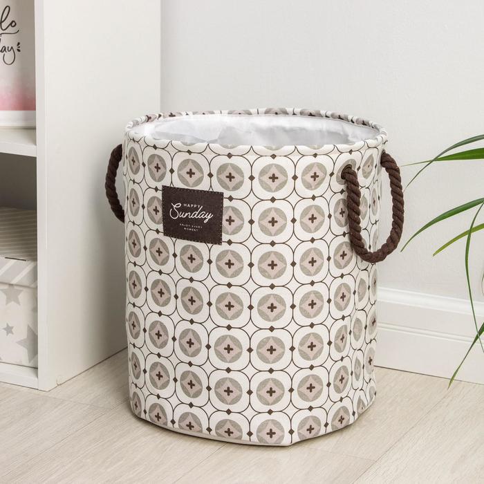 Корзина для белья Доляна «Сплит», 40×35 см, с затяжкой