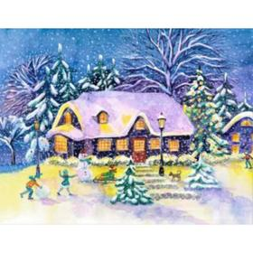 Diammaz Moz 30x40 cm C Podre, with full filled 30 Winter house in the forest