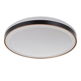 Светильник с ПДУ 1623/1OR LED 72Вт 3000-6000К черно-оранжевый 49х49х7 см