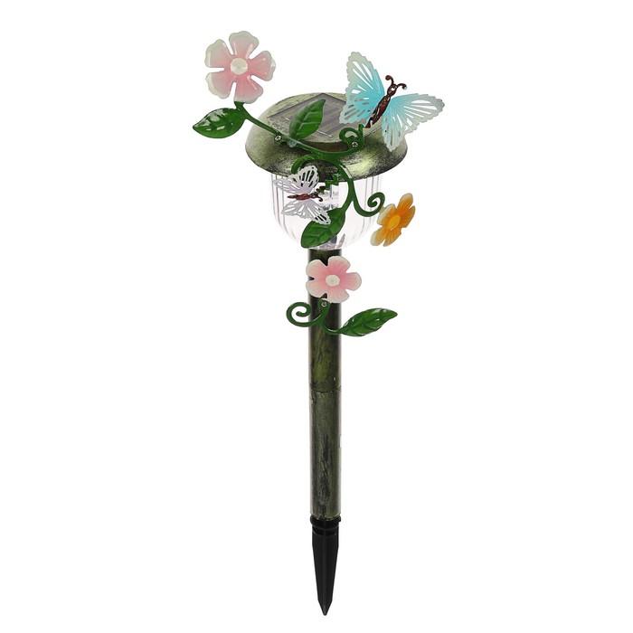 """Светильник """"Старт"""" Бабочка, садовый, на солнечной батарее, 1 светодиод"""