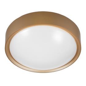 Светильник 1731/1GD LED 12Вт золото 24х24х9 см